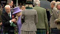 Queen arrives at Braemar Gathering