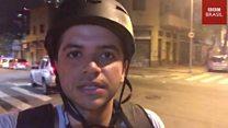 Protesto em SP: repórter da BBC Brasil registra momento em que é agredido com golpes de cassetete por policiais