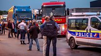Calais blockade: 'We will stay the time we need'