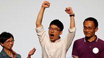 香港立法会選挙 23歳活動家が史上最年少で当選