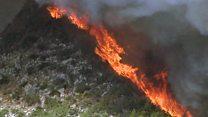 """El incendio """"intencional"""" que devasta la Costa Blanca en España"""
