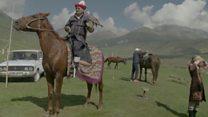 Борьба на лошадях и соколиная охота на Всемирных играх кочевников
