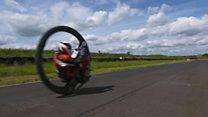 Monowheel rider speeds into record books