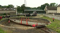 Railway turntable removed in steam heritage plan
