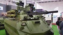 Российский робот-танк на дистанционном управлении