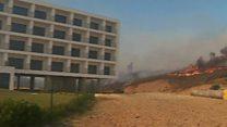 Wildfires threaten Algarve holiday resort