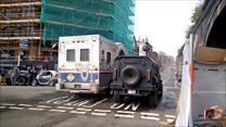 Spielberg car chase filmed in city
