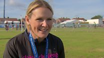 Paralysed woman completes Great North Run