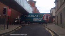 Runaway lorry crashes through city streets