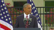 オバマ氏、米国防総省の9/11追悼で演説