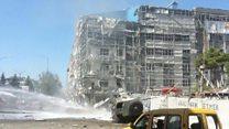 Van'daki bombalı saldırı sonrası ilk görüntüler
