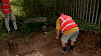 Excavation work begins at old railway station