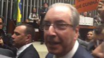 """""""A querida já foi"""", diz Eduardo Cunha após ter mandato cassado"""