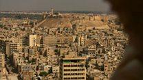 シリア・アレッポの破壊の中にBBC記者 停戦の静けさで