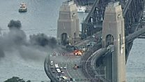 Bus blaze disrupts Sydney rush hour