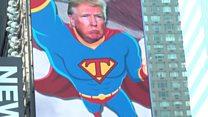 Дональд Трамп в Нью-Йорке предстал в образе Супермена