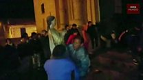 El rescate de las obras de arte en medio del incendio de la iglesia de San Sebastián, en Perú
