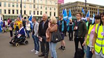 Independence rally in Glasgow