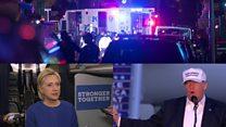 Clinton and Trump react to New York blast