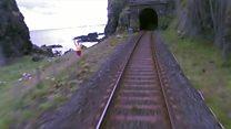 Demiryolu tünelinde mucize kurtuluş