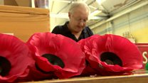 Factory makes five million poppies by hand