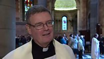 Fr O'Donnell was installed at a service on Sunday afternoon