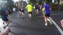 Runner's view of Robin Hood Marathon