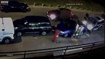 CCTV footage shows car attack