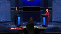 Daawo: Dood kulul oo dhex martay Trump iyo Clinton