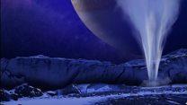 Las impresionantes columnas de vapor de agua que escupe Europa, una de las lunas de Júpiter
