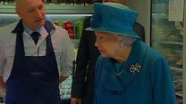 Queen visits Ballater flood victims