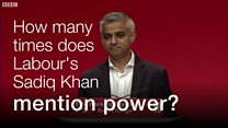 Watch: Sadiq Khan's mention of Labour and power