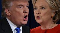 Clinton and Trump's debate body language