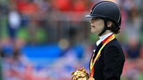 Paralympian 'stranded' on a train