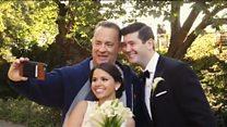 Aktyor Tom Hanks yeni evlənənlərə sürpriz edib