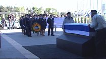 Thousands due at Peres coffin