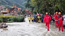 Rescuers tackle mudslides in China