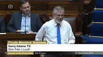 "Gerry Adams tells the Dáil "" My teddy bears are virgins"""