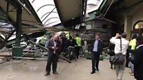 Авария пассажирского поезда в Нью-Джерси