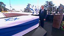 مراسم تدفین شیمون پرز در اسراییل
