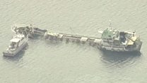 Chemical ship sinking off Japan coast