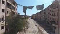 Cъемка с воздуха: футбол на руинах Алеппо