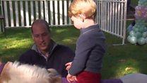 Príncipes George e Charlotte roubam a cena em festa no Canadá