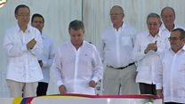 امضا کنندگان پیمان صلح کلمبیا، بخت اول جایزه نوبل صلح