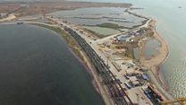 پلی که کریمه را به روسیه متصل می کند