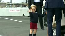 Prince George's big goodbye wave to Canada