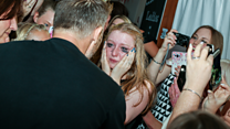 Gary Barlow surprises birthday girl