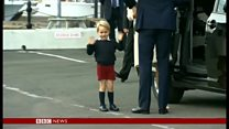 英ウィリアム王子一家 カナダ訪問から帰国の途に