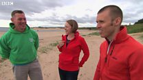 Runner meets men who saved his life