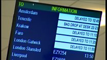 Passengers react to flights disruption